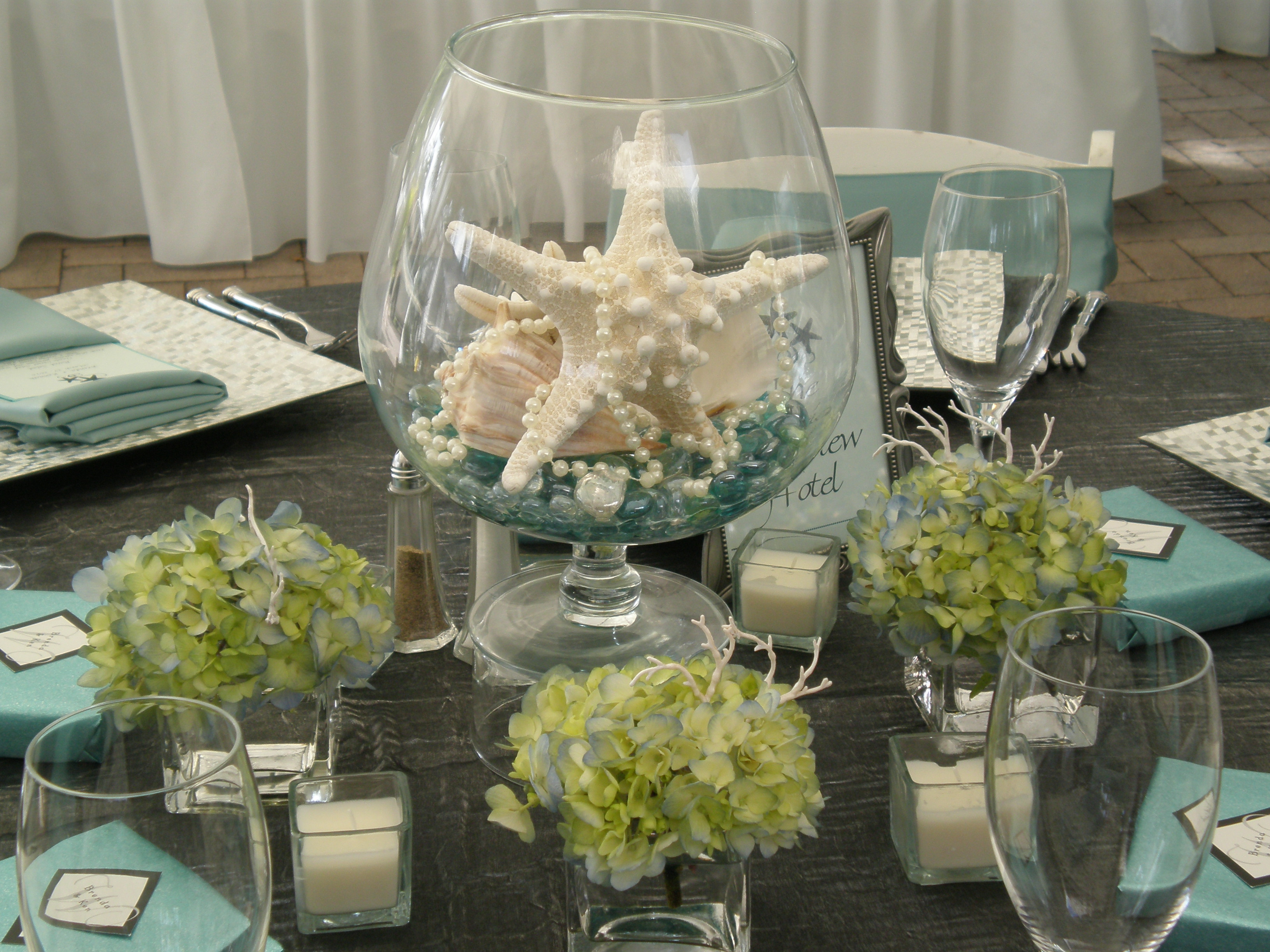 Elegant Beach Wedding Centerpieces - Dreamday Weddings Dreamday Weddings